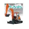Por orden de la propiedad.  Liquidación de miniexcavadora Kubota y accesorios.